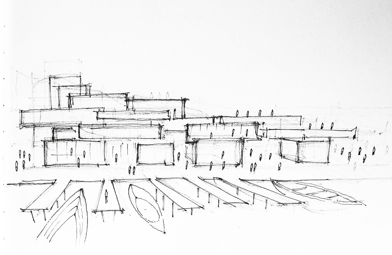3 Sketch zU-studio architecture Made Up North Amsterdam
