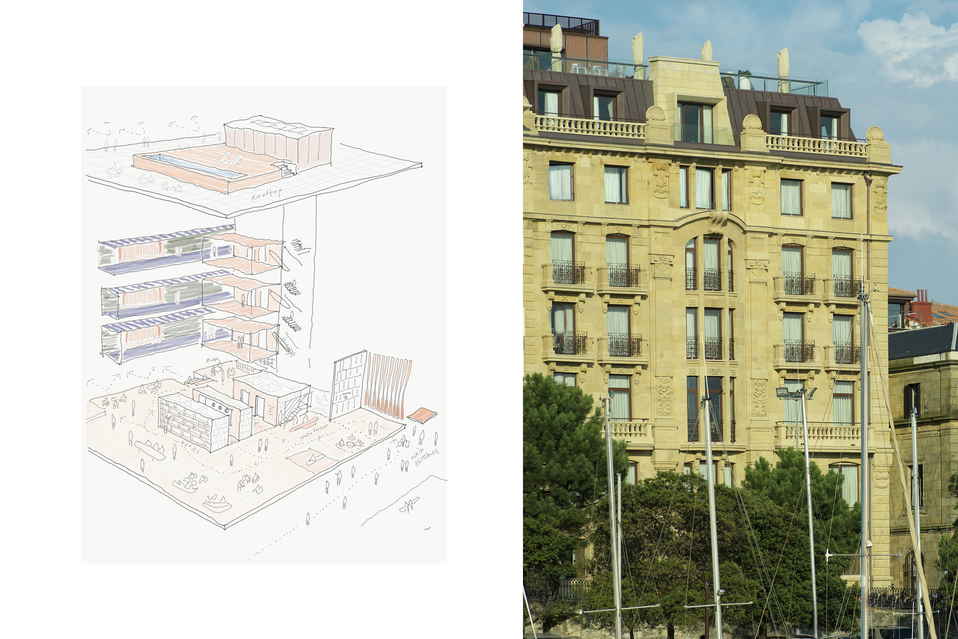Boutique Hotel in San Sebastian zU-studio architecture Amsterdam5